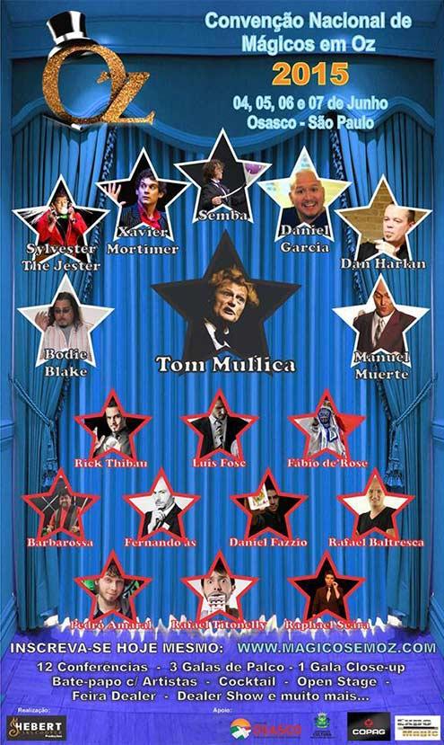 Cartaz da Convenção Nacional de Mágicos em Oz
