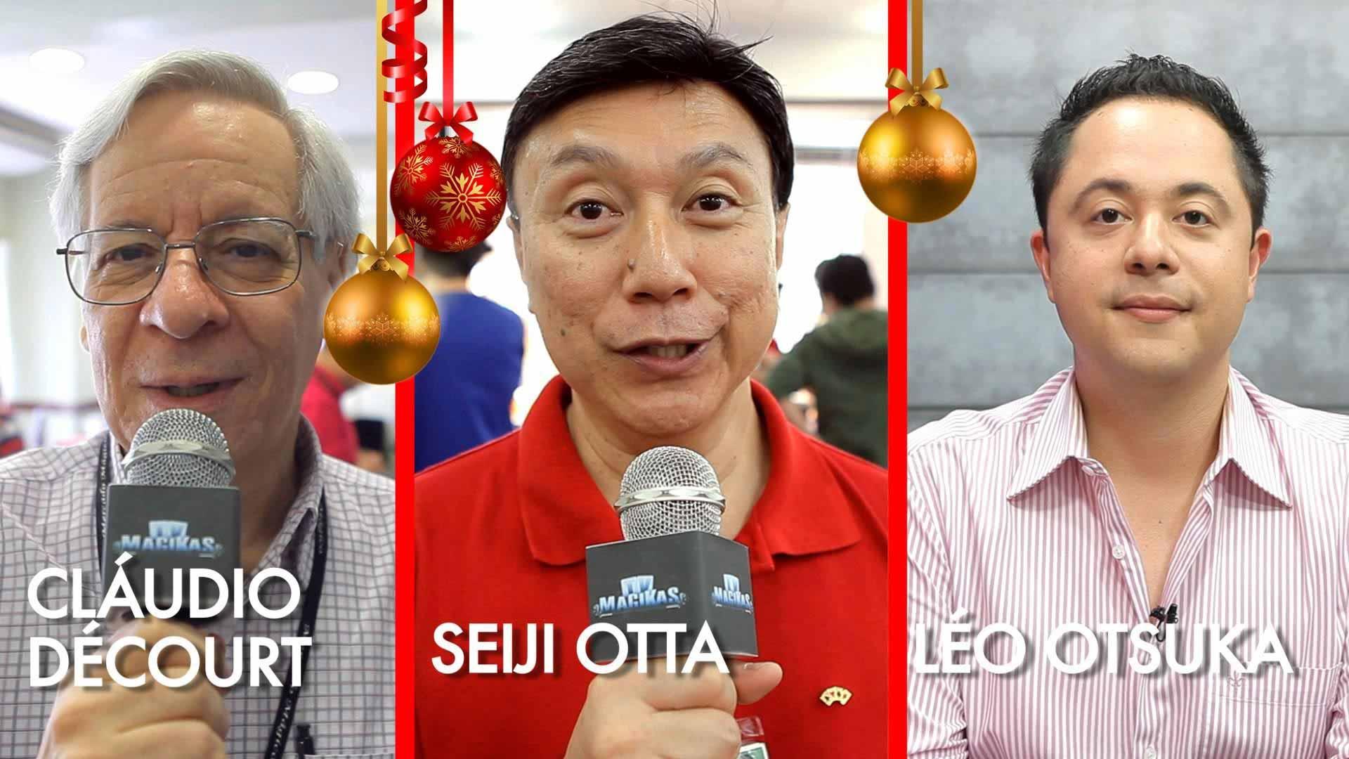 Léo Otsuka, Cláudio Décourt e Seiji Otta em A mágica em 2015