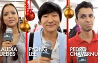 Pyong Lee, Pedro Chavernue e Claudia Guedes em A mágica em 2015