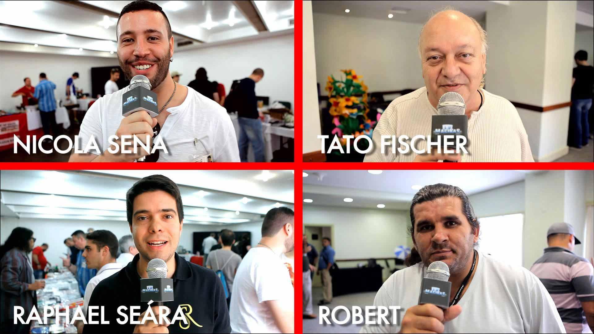 Raphael Seára, Robert, Tato Fischer e Nicola Sena em A mágica em 2015