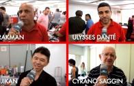 Fujikan, Cyrano Saggin, Ulysses Danté e Drakman em A mágica em 2015